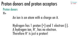 Proton Donors & Acceptors (6/10)   Chemical Reactivity - NCEA Level 2 Chemistry   StudyTime NZ