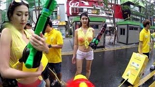 Water Gun Festa Sinchon Seoul Korea - GoPro HD