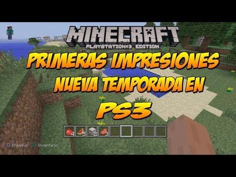 NUEVO MINECRAFT EN PS3: Primeras Impresiones y Nueva Temporada de Minecraft Edition PS3