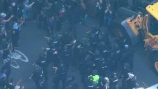 Hate Groups Clash This Time in Boston as 20 Black Lives Matter Thugs Arrested for Pounding on Police Vehicles