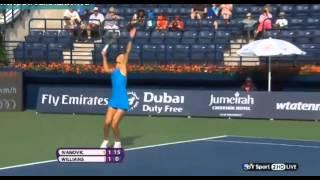 Ana Ivanovic vs Venus Williams WTA Dubai 2014!!!