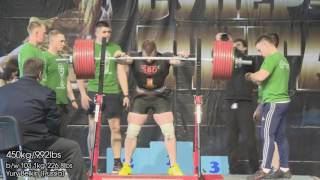 Yury Belkin (Russia), Super-Cup of Titans-2016, Total 1130kg/2491lbs @103.1kg, single ply