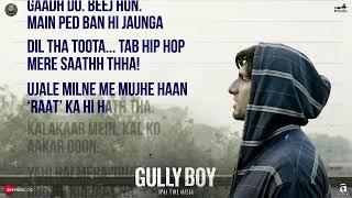 Asli Hip Hop English Subtitles Gully Boy Ranveer Singh Rap
