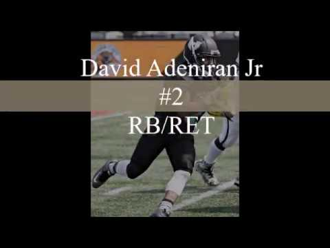 David Adeniran Jr RB/RET 2017 CJFL Highlights