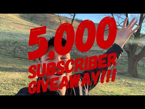 5.000 SUBSCRIBER GIVEAWAY!!!