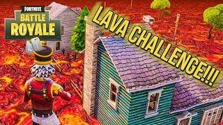 Fortnite BR - THE FLOOR IS LAVA CHALLENGE!