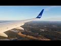 SAS Scandinavian Airlines SK2169 737-700 Stockholm-Gothenburg Safety, Takeoff & Crosswind Landing