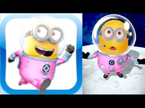Despicable Me: Minion Rush - ASTRONAUT MINION!!! New Moon Power-Up!!! (iPhone, iPad, iOS, Android)