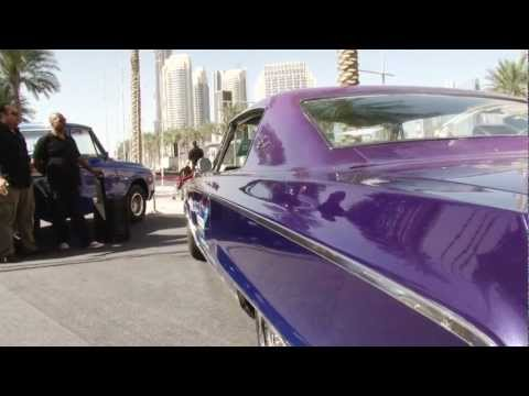 Dubai downtown classic & custom car show with Bear Garcia