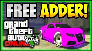 "GTA 5 Next Gen : How To Get A ""FREE ADDER"" Online! FREE CARS 1.30 (GTA V Free Bugatti)"