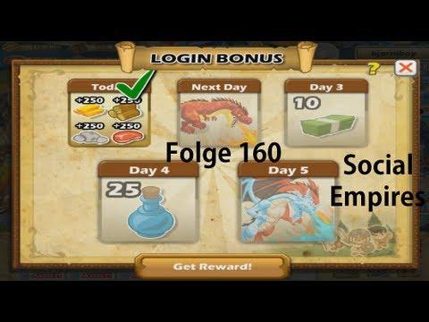 Let's Play Social Empires #160 Der neue Loginbonus
