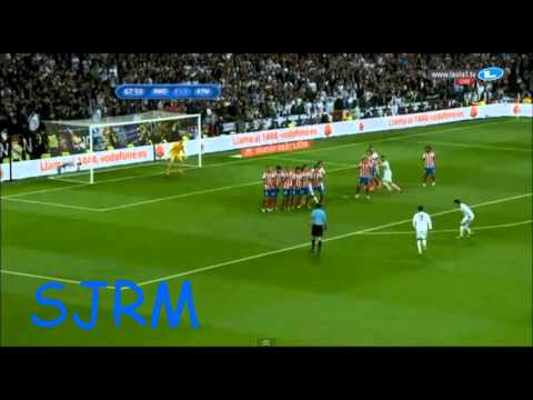 Real Madrid - A. Madrid 1:1 AMAZING FREEKICK BY C.