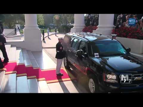 Egypt prime minister Ibrahim Mahlab arrives at the White House Diner