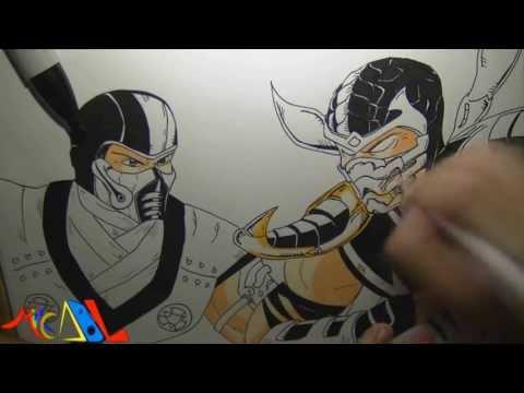 Dibujando a: Sub Zero Vs Scorpion