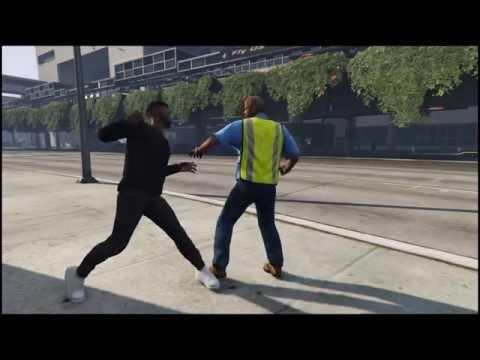 GTA 5 on PC - Драка в Аэропорту Л.С