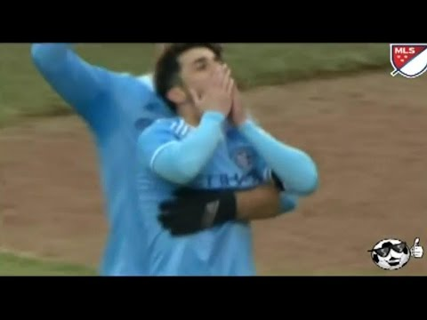David Villa first Goal in MLS  15.03.2015 | NYCFC vs New England Revolution 1-0