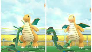 Pokemon Go - Dragonite Raid Duo by Rayquaza & Dragonite(no weather boost)(marginal fail)(19/8/19 G1)