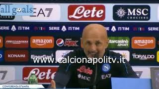 Napoli-Torino 1-0 17/10/21 conferenza stampa Luciano Spalletti