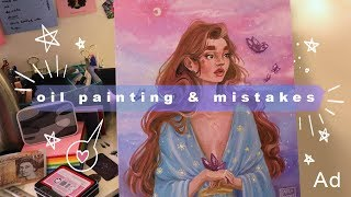 Oil Painting Process & Chatting Mistakes | Ad