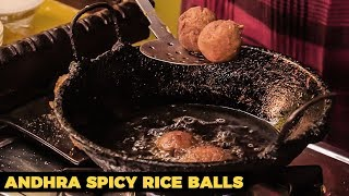 Andhra Spicy Rice Balls Recipe | Andhra Avakkai Arancini