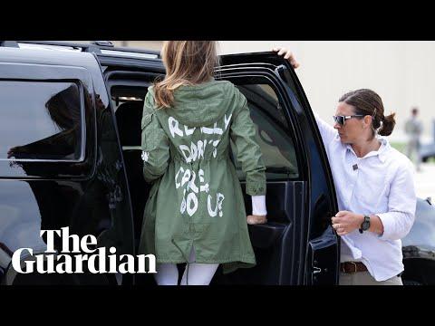Melania Trump wears 'I don't care' jacket en route to child detention centre