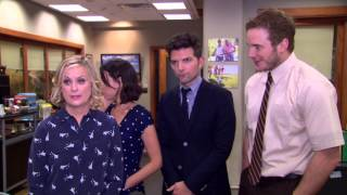 Parks and Recreation: Amy Poehler, Aubrey Plaza, Adam Scott, & Chris Pratt 100th Episode Soundbites