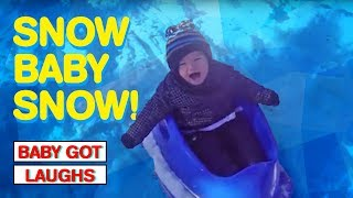 Babies Playing In The Snow | Happy Holidays From Baby Got Laughs!