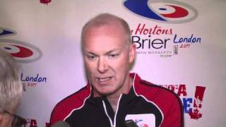 2011 Tim Hortons Brier - Draw 5 Media Scrum