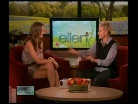 Gossip girl star Leighton Meester on the Ellen show