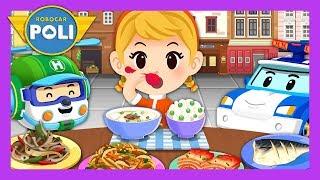 Let's eat the food evenly!   Habit play for Kids   Robocar Poli Game