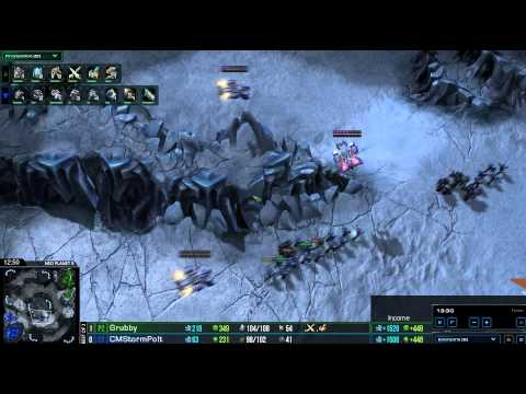 HD Starcraft 2 Polt v Grubby TvZ Heart of the Swarm g2
