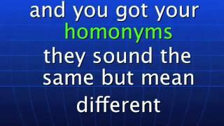 Synonyms, Antonyms & Homonyms Song By Charles H. Johnson www.edusoul.net.flv