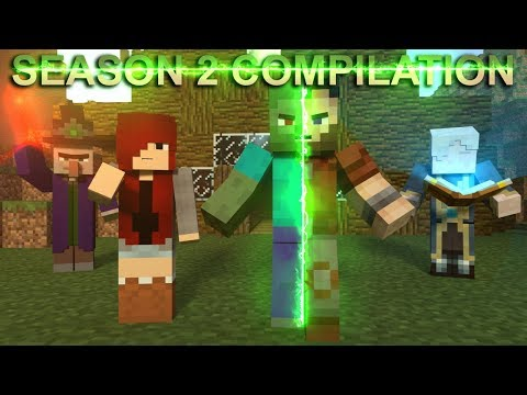 First Zombie: Season 2 COMPILATION - Minecraft Animation Movie