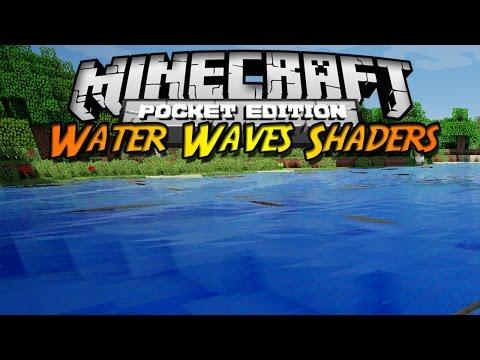 Minecraft PE 0.10.X Shader Pack Water Waves Shaders Español ¡Olas en el agua