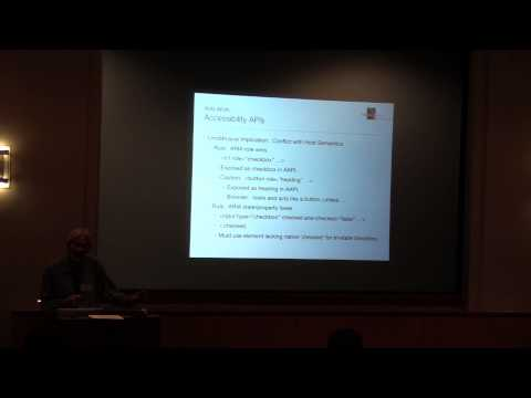 Joseph Scheuhammer: Overview of ARIA, JavaScript, and Interactive Web Accessibility