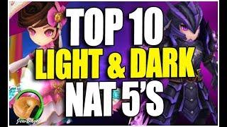 SUMMONERS WAR : TOP 10 Light/Dark NAT 5's!!!