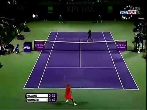 Caroline Wozniacki vs Serena Williams  Sony Ericsson (Miami 2012) Ćwierćfinał Skrót