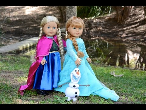 American Girl Doll Disney Frozen Anna And Elsa ~ Hd Must Watch In Hd!