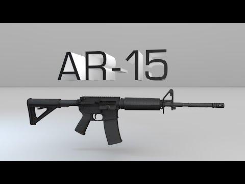 Винтовка AR-15. Конструкция в 3D