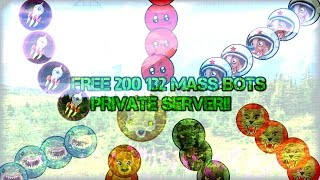 AGARIO 200 132 MASS BOTS // AGARIO PRIVATE SERVER HACK/TUTORIAL!