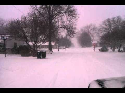 Driving in snow storm Mansfield Ohio 12/26/12