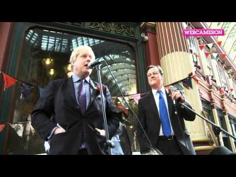 David Cameron and Boris Johnson celebrate St George's Day