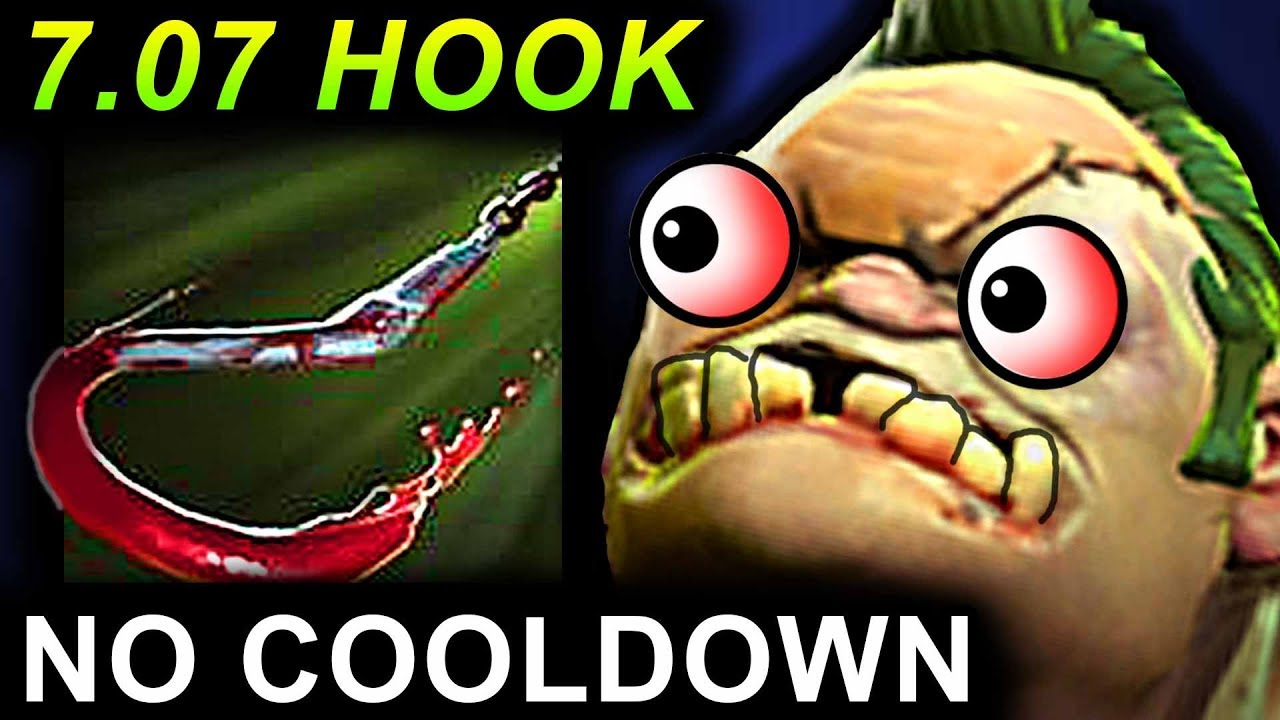 PUDGE HOOK NO COOLDOWN - DOTA 2 PATCH 7.07 NEW META PRO GAMEPLAY