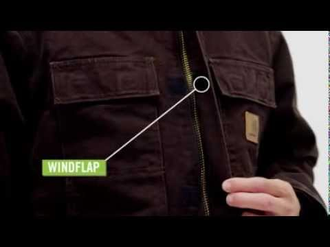 Video: Men's Sandstone Traditional Coat - Arctic Quilt Lined