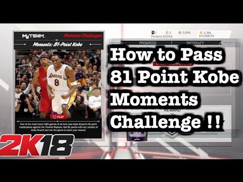 NBA 2K18 AMETHYST Kobe Bryant Moments Challenge Tips. How to do 81 Points Kobe Challenge #70