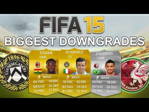 FIFA 15's BIGGEST CONFIRMED DOWNGRADES - Di Natale, Eduardo & Essien! - Fifa 15 Player Ratings