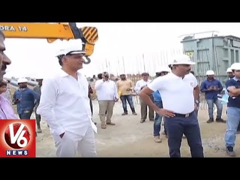 Minister Harish Rao Fires On Contractors Over Delay In Kaleshwaram Project Works | V6 News