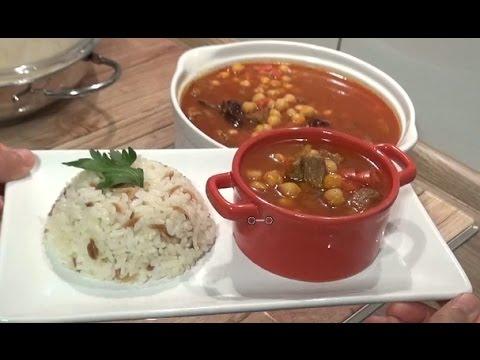 Etli Nohut Yemeği ve Pirinç Pilavı Tarifi - Yemek Tarifi Videosu İzle