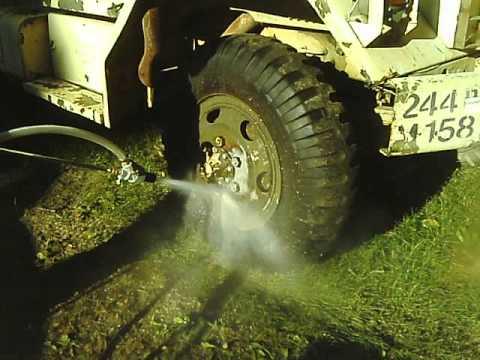 Pressure washer sandblasting