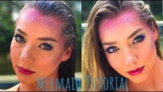 Mermaid Makeup For Halloween!  Brennan's Grin